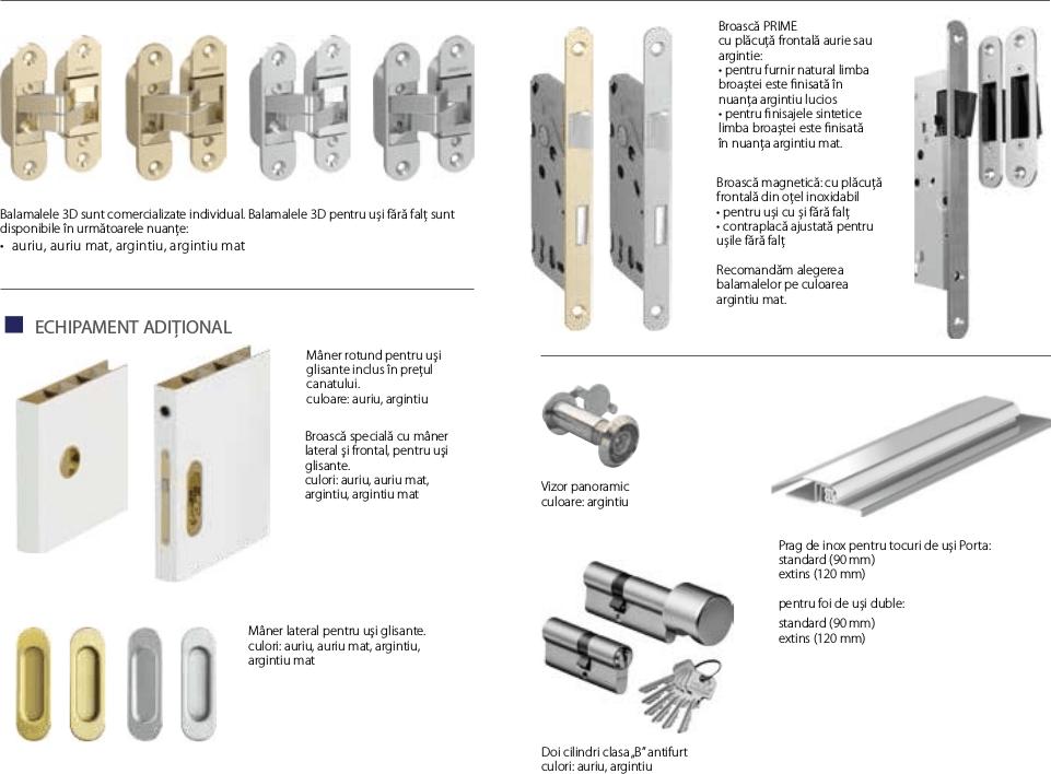 Accesorii diverse usi Porta Doors