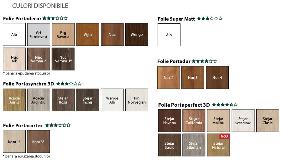 Finisaje (culori) usi Porta Concept