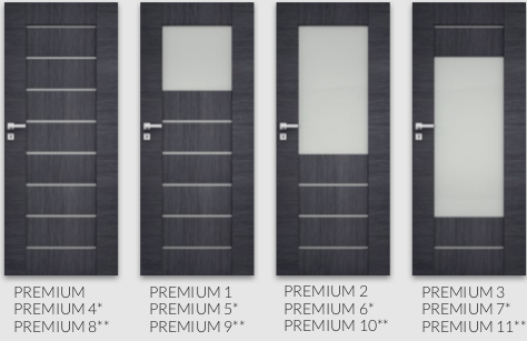 Colectia Premium - usi de interior Dre cu finisaj sintetic