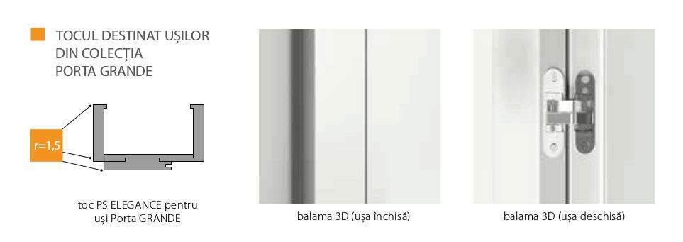 Toc Porta System Elegance pentru usi Porta Grande
