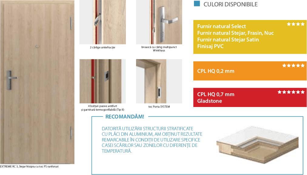Usi de interior pentru intrare in apartament Extreme -usi antiefractie clasa RC3