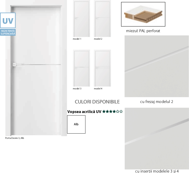 Porta Desire - usi de interior Porta Doors vopsite