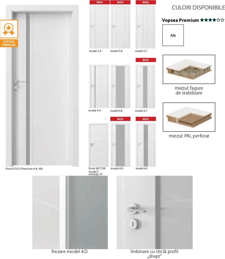 Porta Focus Premium - usi de interior Porta Doors vopsite