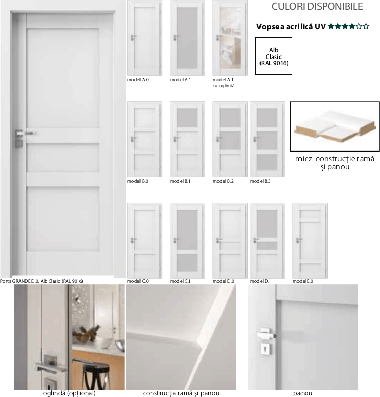 Porta Grande - usi de interior Porta Doors vopsite