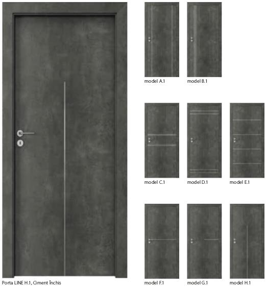 Usi Porta Line - usi de interior Porta Doors cu finisaj sintetic