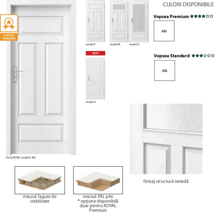 Porta Royal - usi de interior Porta Doors vopsite