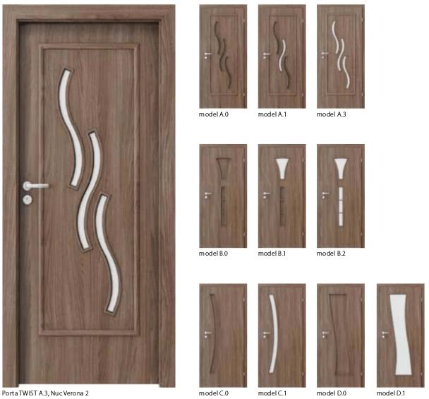 Usi Porta Twist- usi de interior Porta Doors cu finisaj sintetic