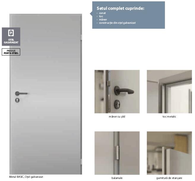 Culori si detalii usi Metal Basic